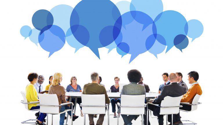 Diverse People in Meeting With Speech Bubbles dynamic capital - 62cd570bfb0294b729fa4e84beef0db8 communication workplace 768 432 c 81 - Dynamic Capital