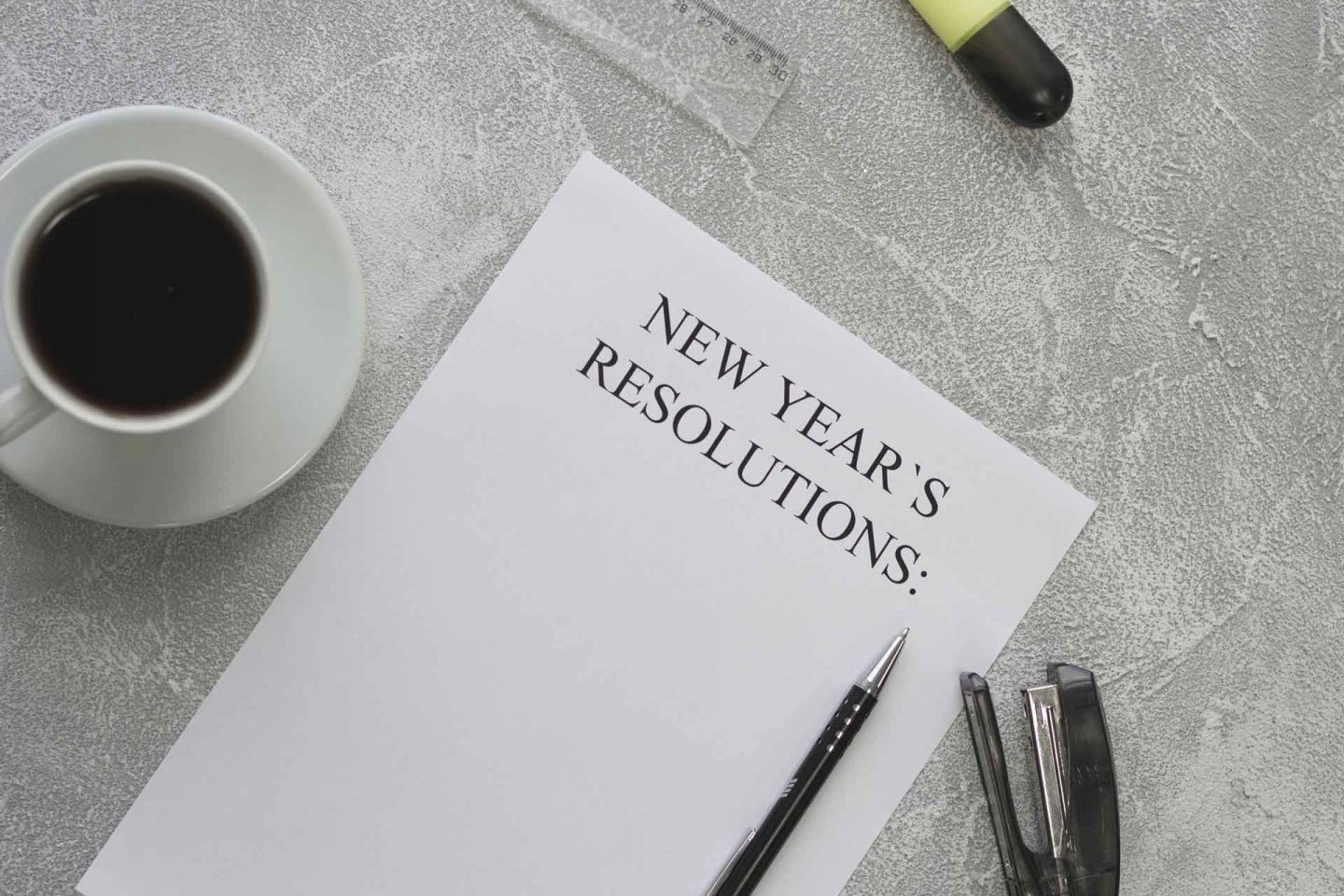 2019 new year resolutions