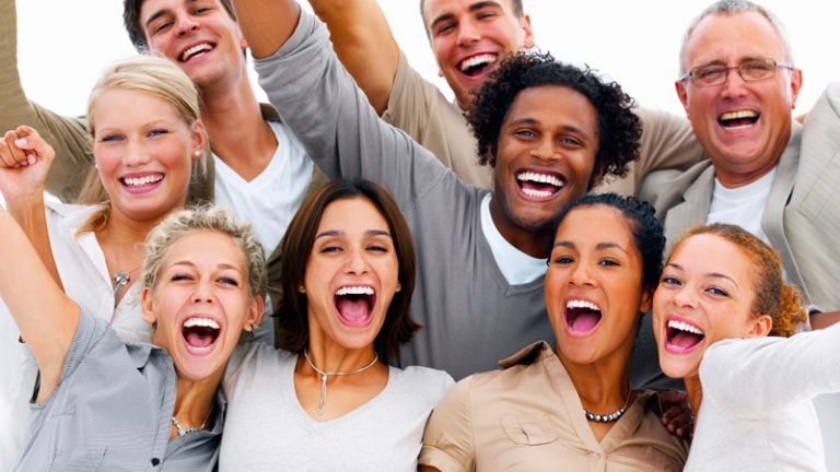 Portrait of a group of business people laughing against white ba  - 6c93860a68095eb5c80f1d90cd997ebf Laugh at work2 768 432 c 81 - Lending Partner